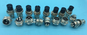 Gx16 Aviation Plug Male female Wire Panel Metal Connector 2 3 4 5 6 8 9 10 Pin