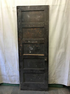 Single Rised 5 Panel Wood Door Reclaimed Antique 30x83 1 2