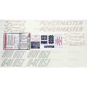 D8015862 Ford Tractor 801 841 851 861 Series Decal Sticker Set Kit