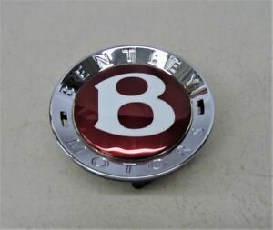 New Genuine Bentley Centre Cap Red B Continental Gt Spur Gtc 3w0601159m