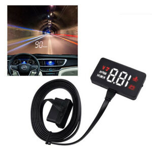 Car Hud Head Up Display Obd2 Overspeed Warning System Projector Windshield