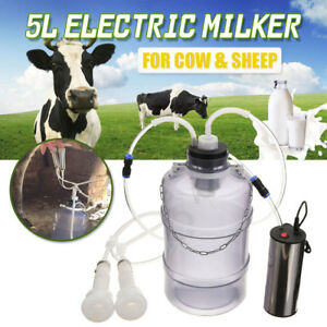 5l Portable Electric Milking Machine Vacuum Pump Cow Farm Goat Milking