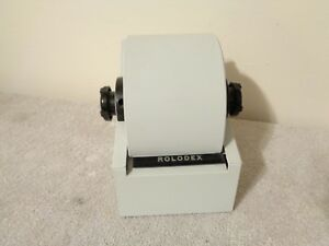 Vintage Rolodex 1753 Mid Century Modern Office Desk Rotary Phone Card File