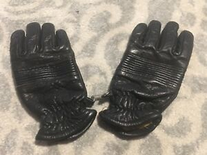 Vtg Wells Lamont Genuine Leather Men s Black Gloves Winter Small