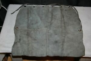 Vintage Leather Welding Apron Scovill Snaps Woodworkers Carvers Distressed
