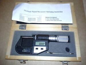 Craftsman 0 1 Electronic Digital Outside Micrometer working very Good Cond