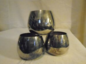 3 Wm A Rogers Silver Plated Cups Mid Century