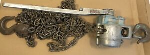 Coffing Ma 30 Ratchet Lever Chain Hoist Puller 1 1 2 Ton Capacity Aluminum