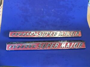 Fordson Super Major Tractor Hood Emblems Original