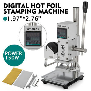 5 7 Cm Digital Hot Foil Stamping Machine 110v Leather Press Marking With Holder