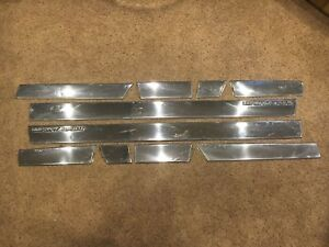 1986 1988 Monte Carlo Luxury Sport Ls Chrome Side Trim Euro Complete Set