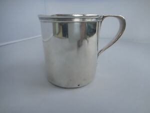 Sterling Silver Tiffany Co Christening Mug Baby Cup 1875