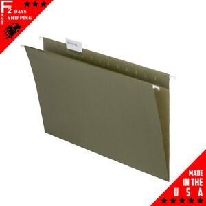 Legal Size Hanging File Folders 1 5 Cut Adjustable Tabs 5 Tab Green 50 Pack