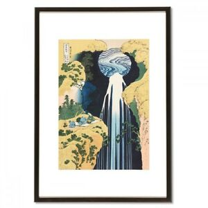 Hokusai Woodblock Print The Amida Falls In The Far Reaches Of The Kisokaido Road