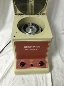 Beckman Microfuge E W 12 Sample Rotor Missing 2 Rotor Buckets