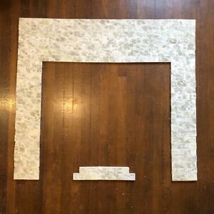 Vintage Antique Victorian Fireplace Tile Surround Mantle Complete Set Aet Co