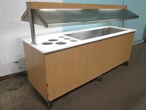 duke H d Commercial Lighted Refrigerated 92 w Cold Food Buffet Salad Bar