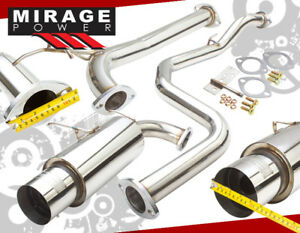 Stainless Steel Full Catback Exhaust Muffler Silencer For 90 93 Acura Integra Da