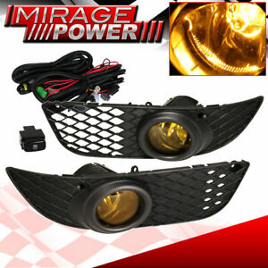 2008 2012 Mitsubishi Lancer Bumper Driving Amber Fog Light Upgrade Replacement