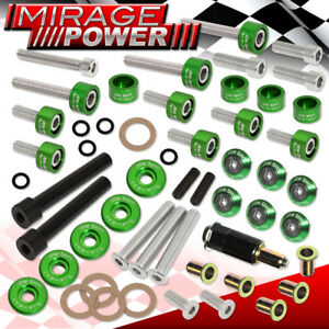 Green D series Engine Header Cam Cap M8 Drivet Fender Valve Cover Washer Combo
