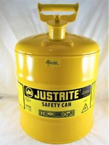 Justrite 7150200 Safety Can Type I 5gal Yellow diesel