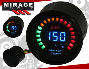 2 52mm Digital Blue Led Jdm Water Temperature Meter Racing Monitoring Gauge Vw
