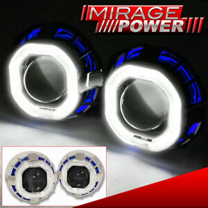 For Nissan Dual Demon Angel Eye Headlight Retrofit Projector Shroud Hid Ballast