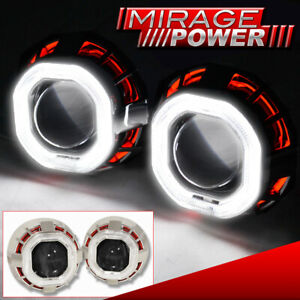 2 5 Bi Xenon Headlight Retrofit Round Projector Dual Ccfl Halo Ring Hid Kit