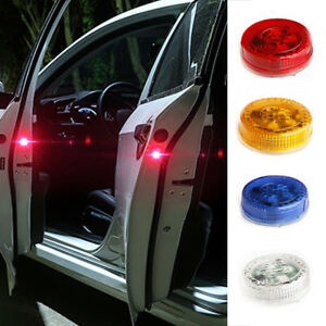 2x Led Light Warning Emergency Beacon Strobe Flash Car Truck Door Decors Durable