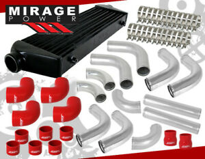 Jdm Sport Inter Cooler 3 Beaded Flared End Racing Pipe Piping Kit 12 Pieces