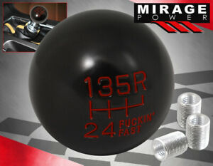 Universal 6 Speed F Ing Fast Spherical Round Ball Gear Shifter Shift Knob Red