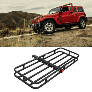 53 Universal Steel Rack Car Cargo Carrier Basket For 2 Hitch Receiver