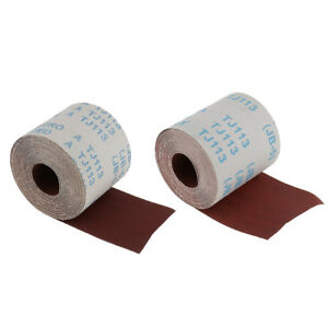 10 M 10cm 320 120 Grit Emery Cloth Roll Sanding Paper Metalworking Grinding