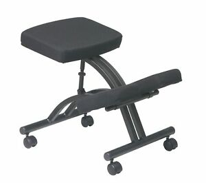 Office Star Ergonomically Designed Knee Chair With Casters Memory Foam And Bl