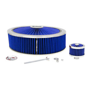 Spectre 847636 Extraflow Air Filter Assembly 4in Tall Blue Round