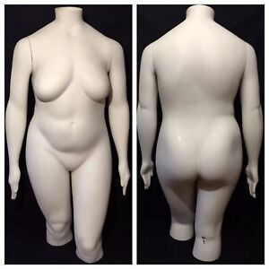 Plus Size Headless Female Mannequin Dress Form Vintage Jcpenney Retail Display