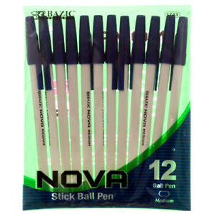 New 335123 Pen Ball 12pc Blue Ink 1743 bazic 24 pack Pens Wholesale