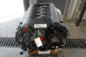 Ford Mustang Gt Engine 5 0l Coyote Liftout W ecm Vin F 8th Digit 16 17 13k Miles
