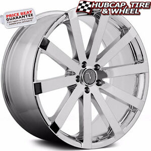 Velocity Vw12a V12a Chrome 22 x9 Custom Wheels Rims set Of 4 Free Ship