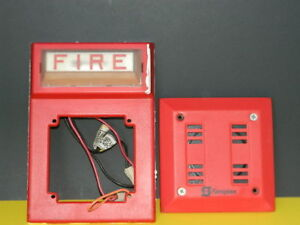 Simplex 4903 9101 Fire Alarm Red Horn 2901 9840 Strobe Wall Mount Combo