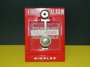 Simplex 4251 30 Double Break Glass Fire Alarm Pull Station
