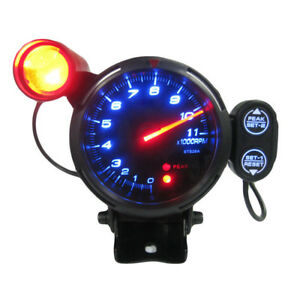 3 5 Tachometer Gauge Kit Blue Led Meter With Shift Light stepping Motor L0o0
