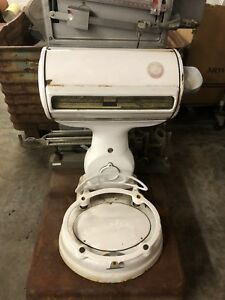 Used Vintage Antique White Hobart Deli Grocery Meat Scale White
