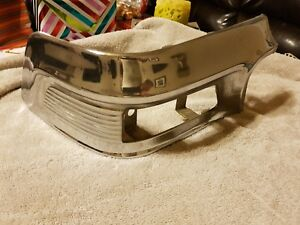 1958 Ford Fairlane 500 Turn Signal Light Chrome Molding Trim Passenger s Side