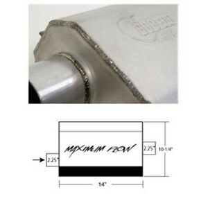 Hooker 21601hkr Maximum Flow Muffler Single 2 1 4 Inch Offset Inlet