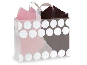 1 Unit Vogue Hip Dots Plastic Bags Bulk 3 Mil Shopping 16x6x12 Unit Pack 250
