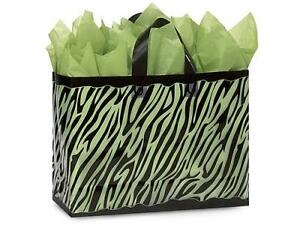 1 Unit Zebra Plastic Bags Bulk 3 Mil Shopping 16x6x12 Unit Pack 250