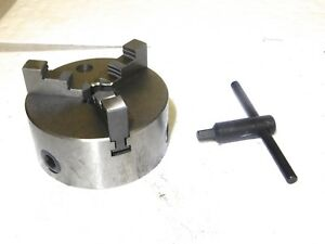 Interstate Manual Lathe Chuck 5 Dia 3 Jaws Self Centering Plain Back 08550725