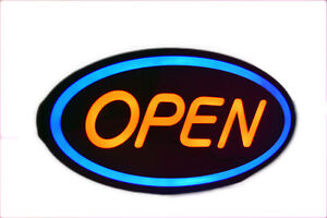 24 X 10 X 2 Large Bright Electric Led Business Shop Restaurant Open Sign