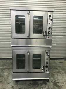 Double Stack Gas Convection Oven Montague 115a 8905 Commercial Bakery Ovens Nsf